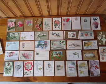 Vintage Lot of 59 Postcards Christmas,Easter,Halloween,Greetings Used,Unused - For Your Art -