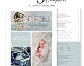 Newborn Photography Price Guide Template, Photography Price List, Sell Sheet, Photoshop Templates, Marketing Template, Instant Download