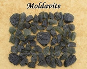 Moldavite genuine raw rough stone for crystal healing — multiple sizes available