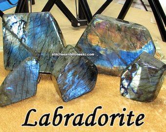 Labradorite huge center pieces with amazing flashes