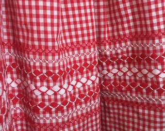 Gorgeous Handmade Red and White Gingham Skirt