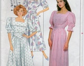 Dress With Loose Fitting Bodice Front And Back Inset Flared Skirt With Front Pleat Size 12 14 16 Sewing Pattern Butterick 4738 Plus Size
