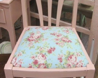 Shabby Farmhouse Hand Painted Pink Chair Paris Flea Market Shabby Chic