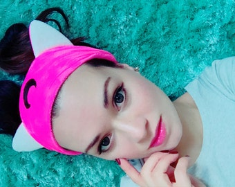 Sailor Moon Inspired Pink Black hair band, headband perfect for applying make up and washing your face