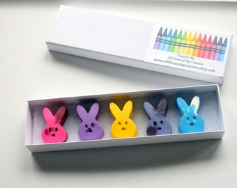 Bunny Crayons - Easter Crayons - Spring Crayons -  Classroom Crayons - Crayons for kids - Birthday Party Favor - Kid Unique Party Favor