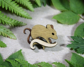 Mouse Brooch - Woodland Collection