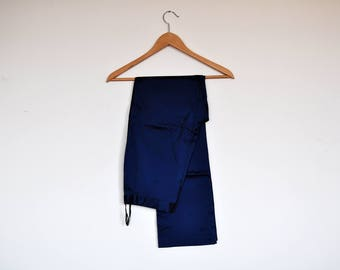 Vintage Iridescent Royal Blue High Waisted Skinny Shiny Stretchy Preppy Pants
