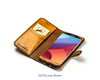 LG G6 Wallet Phone Case / leather phone case for LG G6 / personalized phone case / handmade LG G6 case /