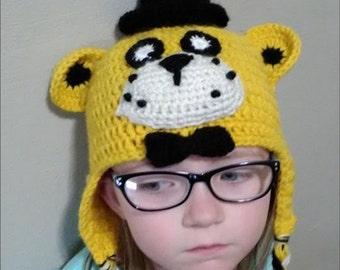 Five Nights of Freddy  Golden Freddy Crocheted Beanie