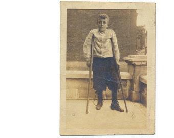 Polio Braces Crutches social realism found art snapshot photo vernacular photography Medicine Medical Disease