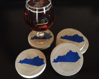 Kentucky Wooden Coasters, free shipping