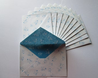 DESTASH - Snowmen envelopes >> stationery, snail mail, pen pals, Christmas cards