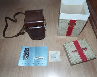 Vintage Rolleicord TLR Camera and Case Analogue Photography 1940's