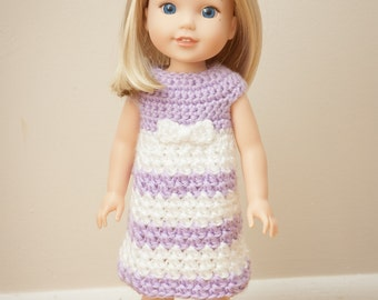 Crochet Dress Pattern for Wellie Wishers