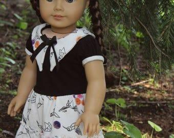 american girl doll dress: origami