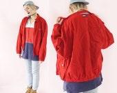 SALE Tommy Hilfiger 90s Cotton Bomber Jacket, 90s Tommy Logo Jacket, 90s Hilfiger, Unisex Size Small