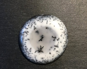 AAA quality Dendritic Agate - flat back cabochon - for making jewelry - FabbyDabby Stones Item #17-010310