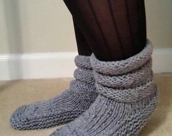 Handknit Wool Slippers
