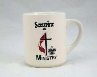 1970s Scouting as Ministry Coffee Mug, Tea Mug, Vintage Coffee, Vintage Tea, Vintage Kitchenware, BSA