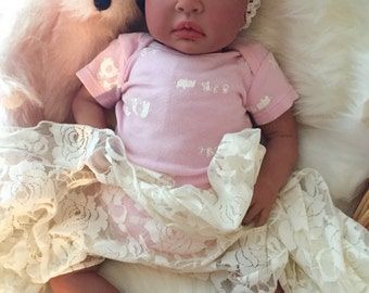 From the Biracial Shyann Kit  Reborn Baby Doll 19 inch Baby Girl Carmen Complete Doll