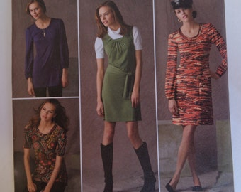 Simplicity 2850 Modern Dress Tunic Tops & Military Cap Size 4 6 8 10 12 UNCUT