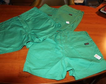 70s 80s Deadstock Washington DEE CEE Highwaisted GREEN Shorts 1 Pair-Choose Size Made in Usa Nos Original Tags New Old Stock 31 33 36 Uni