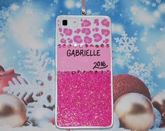 Personalized Bling Phone Christmas Ornament