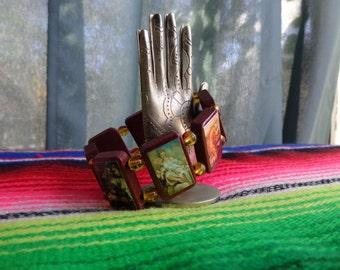Demeter Wooden Devotional Bracelet. Pagan Polytheist Hellenist Devotional Jewelry.