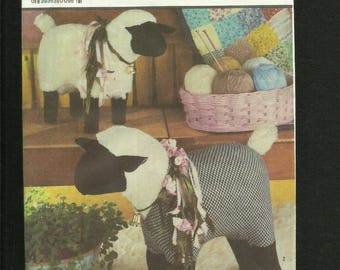 Simplicity 7418 Little Lamb Do Eat Ivy Stuffed Farm Friends Sheep Chic UNCUT