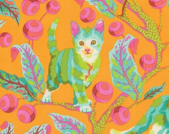PRESALE - Tabby Road - Disco Kitty in Marmalade Skies - Tula Pink for Free Spirit - PWTP092.MARMA - 1/2 Yard