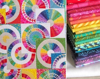 Crazy Tula Quilt Kit featuring Tula Pink and Cotton and Steel - PD-CRAZYTULAKIT - 1 Kit