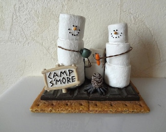 Family Camp Smore Midwest Smores Shelf Sitter