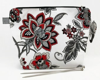 Medium Wide-Mouth Wedge Bag - Angie's Red & Black Deco