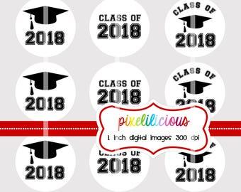 Bottle Cap Image Sheet - Instant Download - Graduation 2018 - Graduation -  1 Inch Digital Collage - Buy 2 Get 1 Free