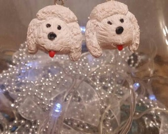 Polymer Clay Poodle Earrings