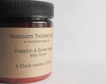 Pumpkin & Brown Sugar Body Lotion - Hand Lotion - Handmade Lotion