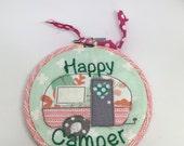 Happy Camper Hoop Art