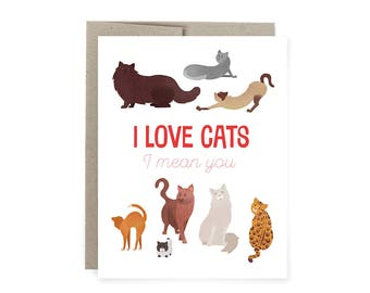 I love Cats & You Love Card