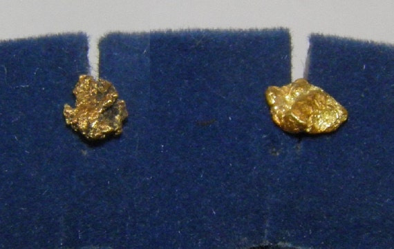 real 22k gold nugget earrings