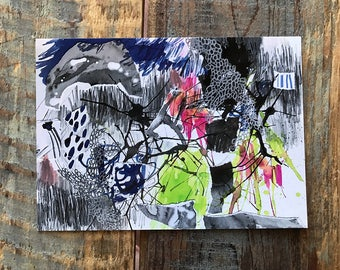 Abstract Expressionist Painting Art Reproduction Postcard 5 x 7 print