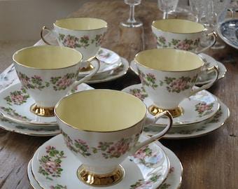 Elizabethan vintage china tea cup trio