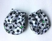 Newborn Scratch Mittens, Newborn gloves soccer football