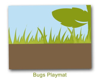 printable play mat Bugs, Nature playmat, digital file, pdf, INSTANT DOWNLOAD, pretend play, travel toy.