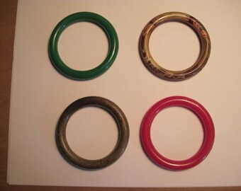 "Four Assorted Color Round 3"" Plastic Hoops / Ring / Craft Project Supply"