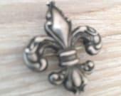 Fleur de Lis Sterling Silver Brooch, Vintage Jewelry SPRING SALE