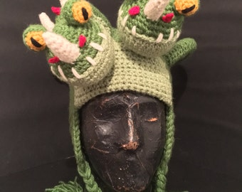 Double headed dragon hat