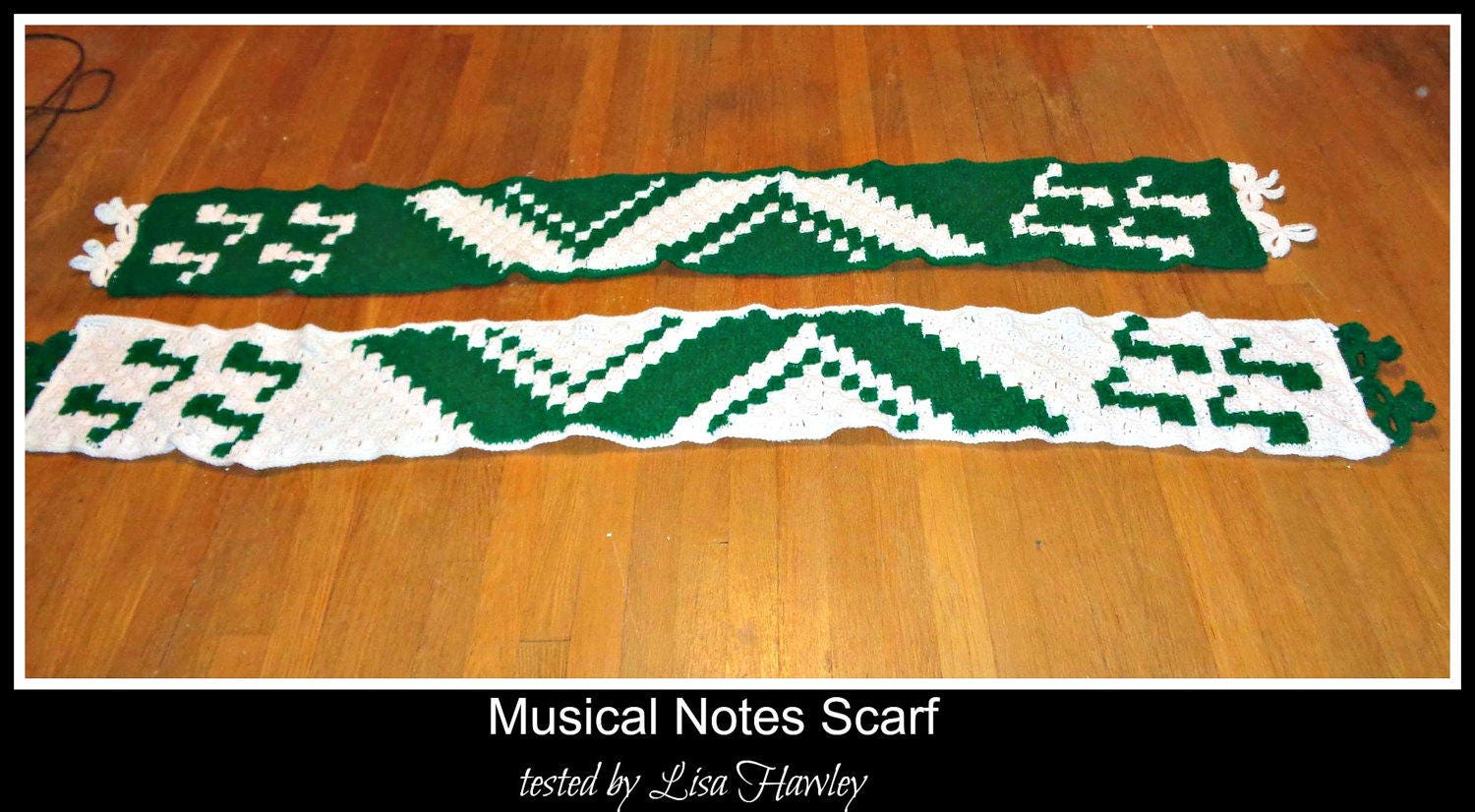 C2c Graph Musical Notes Scarf Crochet Pattern From