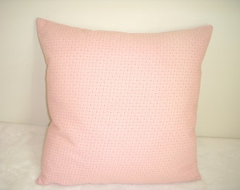 Pink Pillow Cover Cream Rose Diamond Waverly Farmhouse Shabby Chic French Country English Cottage