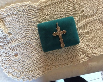 Silver star style cross pendant