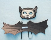 Little Brown Bat Costume - Mask, Wings, Mask & Wings Combo